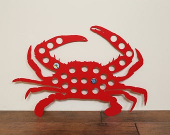 Maryland Blue Crab Bottle Cap Display, Beer Cap Holder