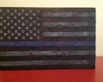 Police American Flag