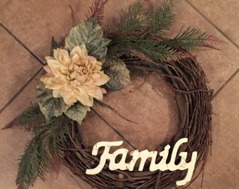 Grapevine Family Wreath