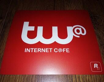 Grand Theft Auto V GTA5 Tw@ Internet Cafe Promo Mouse Mat