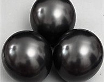 Black Pearl Balloons - 12 Inch Balloons - Bridal Shower Balloons - Round Balloons - Wedding Balloons - Latex Balloons - Party Balloons