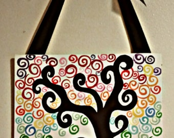 Colourful Curly Tree Painting