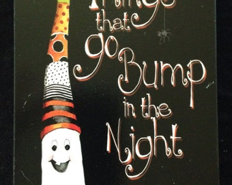 Things That Go Bump in the Night Wooden Wall Halloween Decor