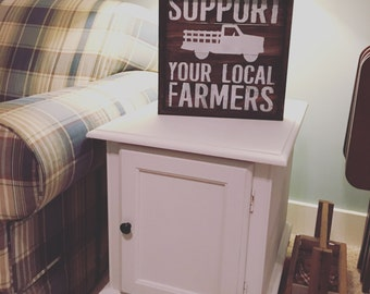 Support Your Local Farmers Pallet Sign