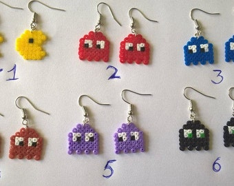 Pacman and ghosts earrings!