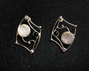 Landscape Onyx Earrings