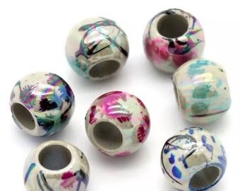 Drawbench beads. Acrylic drawbench beads. Painted drawbench beads. 8mm drawbench beads x 50