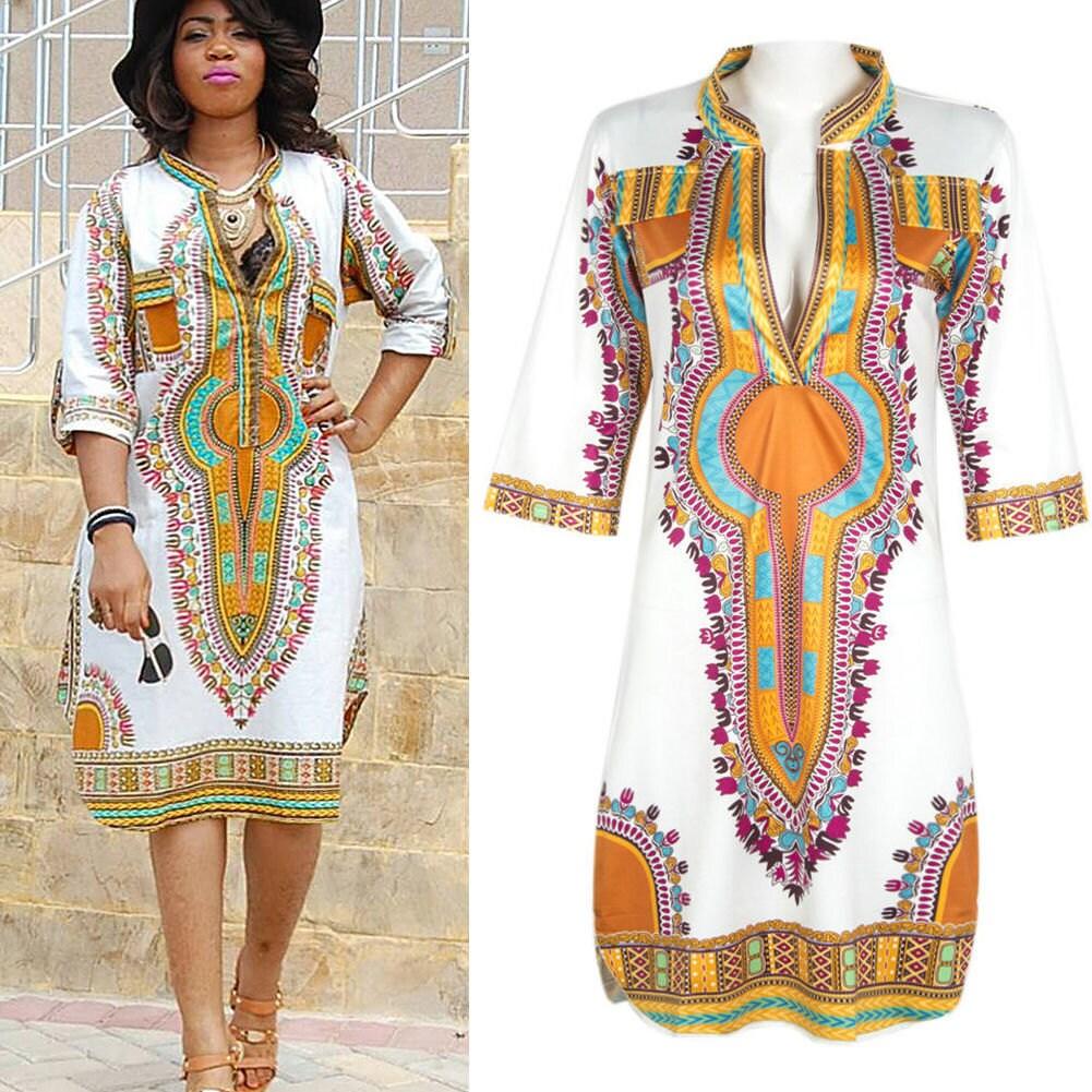 african print party dresses plus size deep v neck plus size. Black Bedroom Furniture Sets. Home Design Ideas