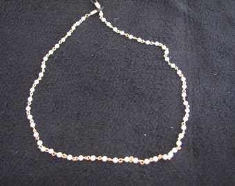 """Vintage 21"""" faux pearl and chain necklace"""