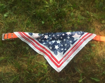 Americana Stars and Stripes dog bandana