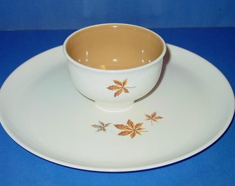 Random Leaves Ever Yours 2 piece Chip and Dip Set Taylor, Smith & T