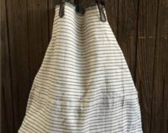 Hand-woven Striped Vintage Shopper Tote. XL