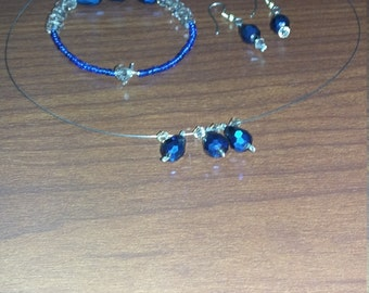 necklace, earrings and bracelets set