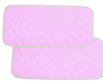 Bamboo Changing Pad Liners Waterproof Washable  Protector For Diaper Change Pad  Travel Changing Mat  (Baby Pink)