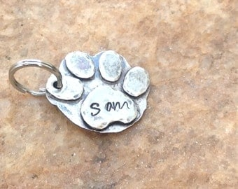 Paw Print Personalized Pet ID Tag