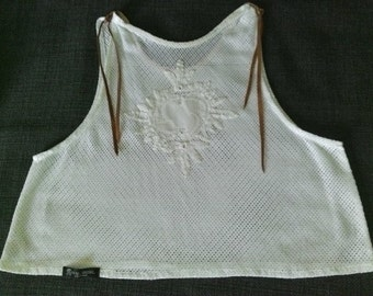 Summer top in vintage style S