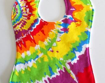 Tie Dyed Print Toddler Bib