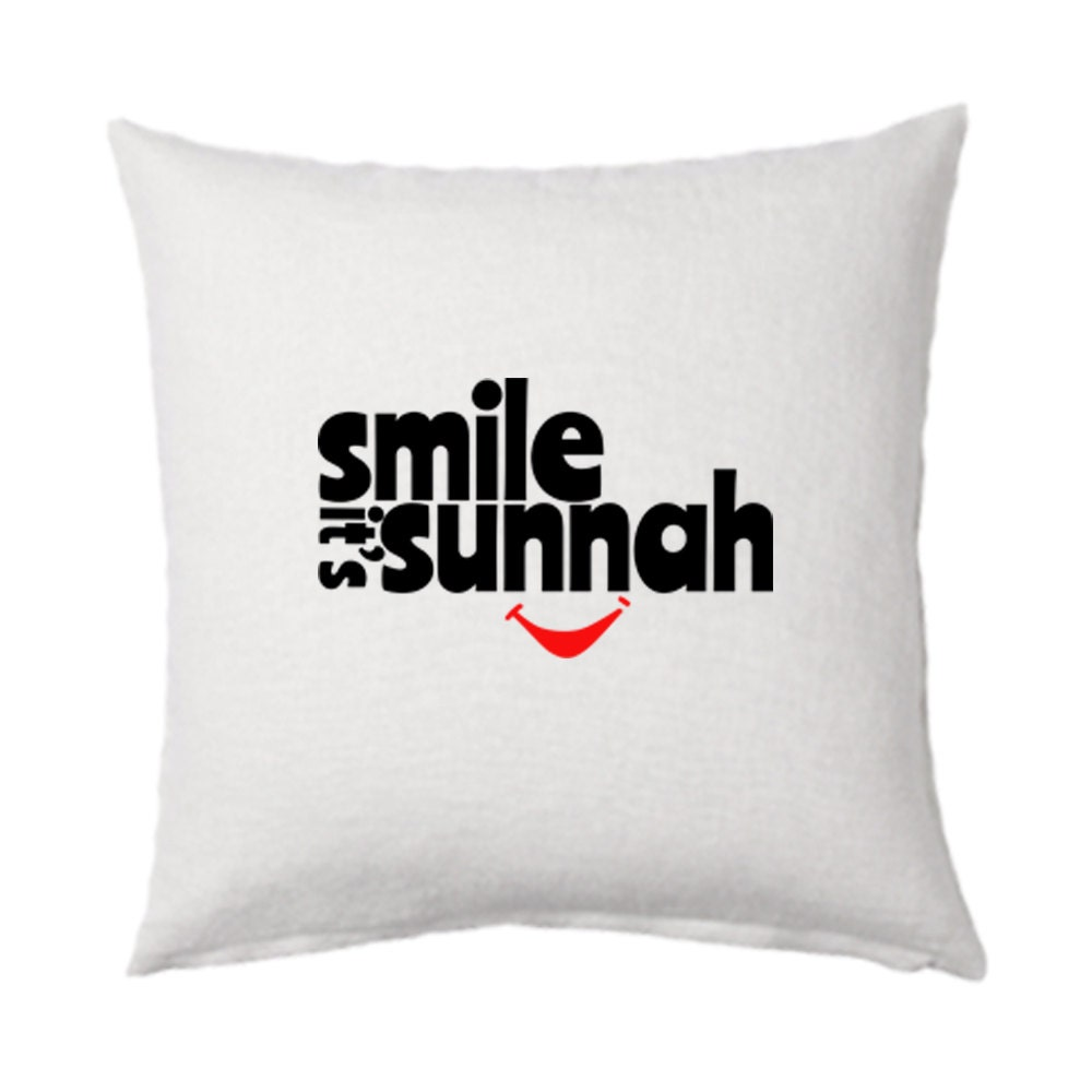 Smile It S Sunnah Muslim White Cushion Cover Great Addition To Any Islamic Home Decor