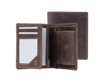 Visconti wallet - Spear - Oiled BROWN Leather