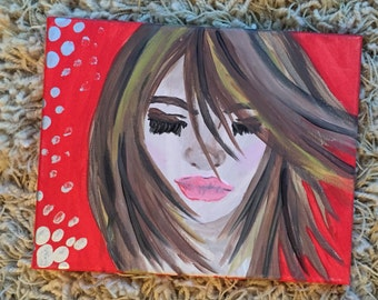 Acrylic Painting of Woman