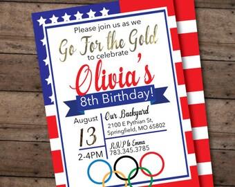 Olympics ticket birthday invite let the games begin custom olympics party birthday invitation printable invitation any age birthday modern girls or boys stopboris Choice Image