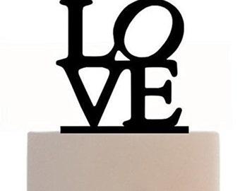 Acrylic Wedding Cake Topper (Love)