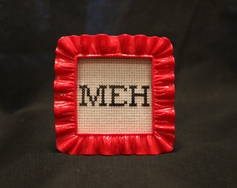 Framed cross stitch word art