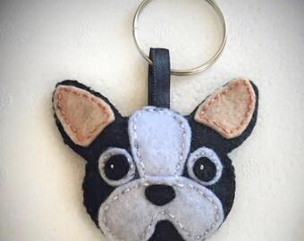 French bulldog handmade keychain