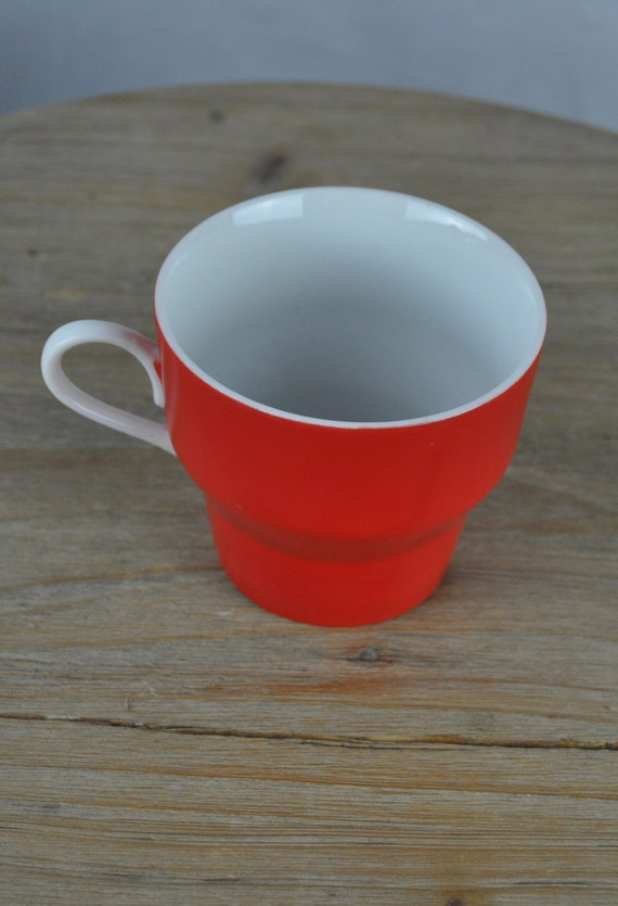 Midcentury Paul McCobb Contempri Red and White Cup Tea Cup