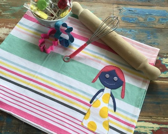 Girl Tea Towel 100% Cotton