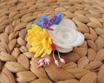Floral Bouquet Hair Clip - Daisy