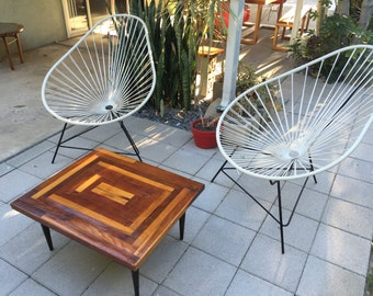 Mid Century Modern Rewood Coffee Table