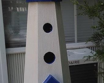 Custom lighthouse birdhouse