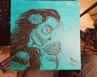 SUGAR skull girl painted face