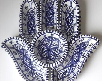 Hamsa Ceramic Dark Blue