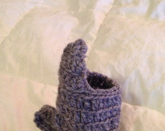 Shark fin beer cozy