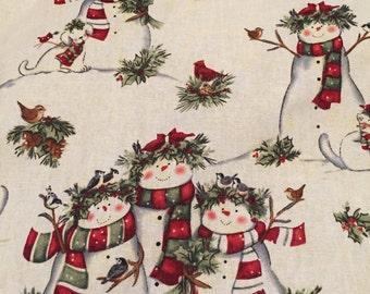 Snowman holiday fleece blanket.