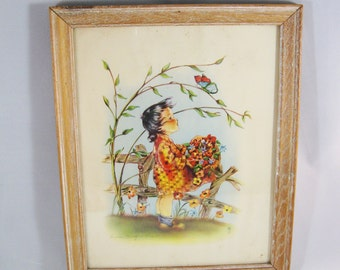 Sweet 1940's Litho Print by Marion Bradford Burgess