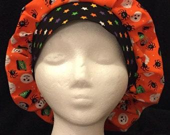 Women's Surgical Scrub Hat Bouffant Halloween/Fall
