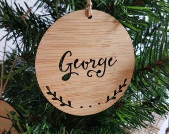 Personalised Wood Christmas Decoration / Ornament Antlers
