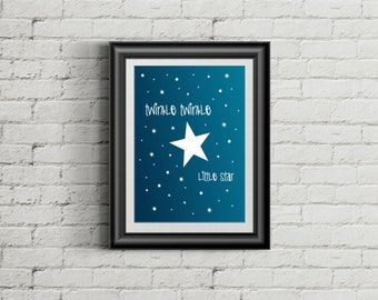 Twinkle Twinkle little star. A4 print