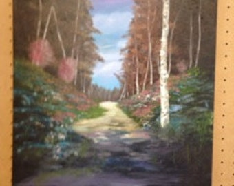 """An Oil Painting on Canvas. Titled """"Path"""""""