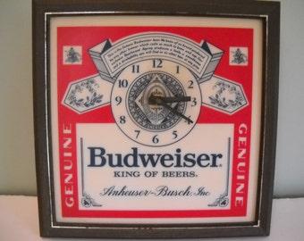 Budweiser Beer Clock Light