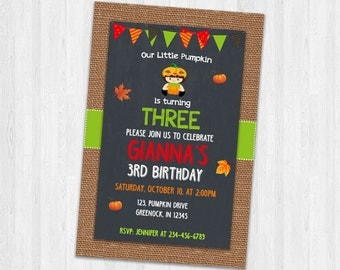 Halloween Birthday Invitation, Kids Halloween Birthday Invites, Birthday Party Invitation, Halloween Printable Invitations