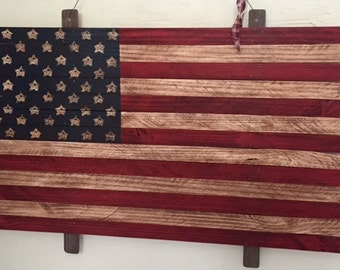 Large Primitive Slat Flag