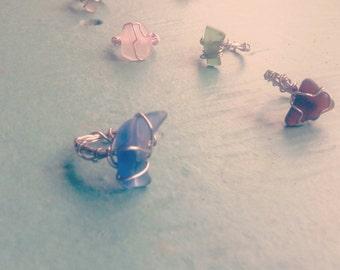 Seaglass rings