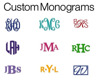 Monogram Decal | Vinyl Monogram | Monogram Decal | Monogram Vinyl Decal | Custom Decal | Custom Monogram