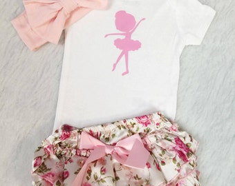 Ballerina Outfit, Glamour Baby, Bodysuit Girl, Baby Girl, Mom to be, Gift.