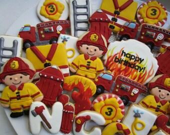 Firefighter cookie set
