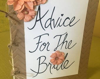 Bridal Shower Advice Book